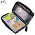 Reise Reisepass Brieftasche Kredit Business Kunststoff Karte Fall für Männer Männliche Echte Echt Leder Zipper Um RFID Block Beutel|Karte & ID Halter|Gepäck & Taschen -