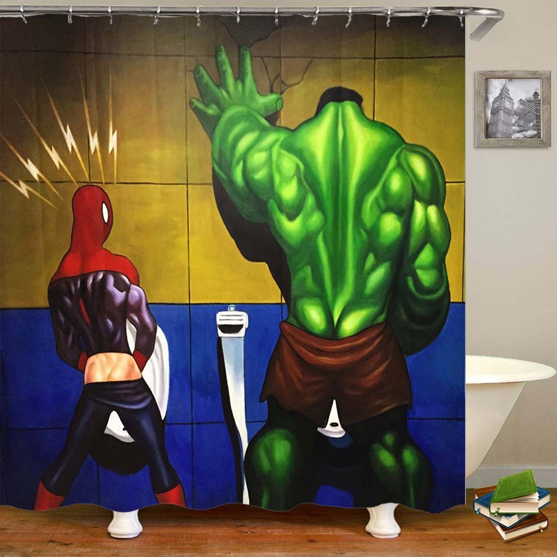 Cartoon Comic Hero Spider Chivalrous 3d Series High Archives Number Printing Defence Water Bath Curtain Grinding Land Pad