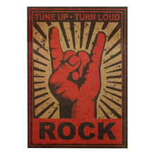 Рок-н-ролл рок жесты ностальгия металл рок декоративная живопись, плакаты наклейки на стену