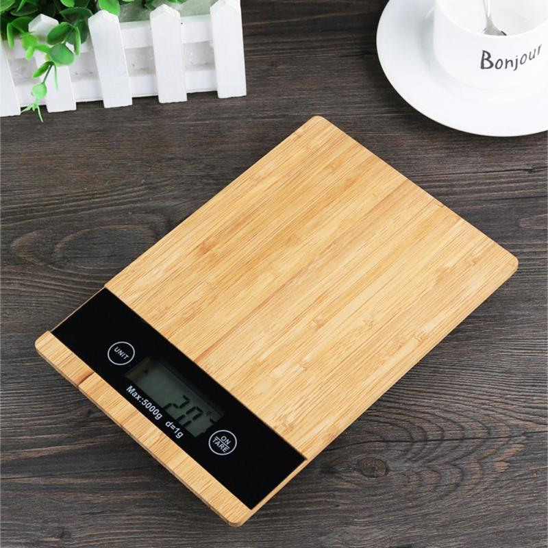 Digital Food Scale and Kitchen Scale with Wooden Surface And LED Display 1