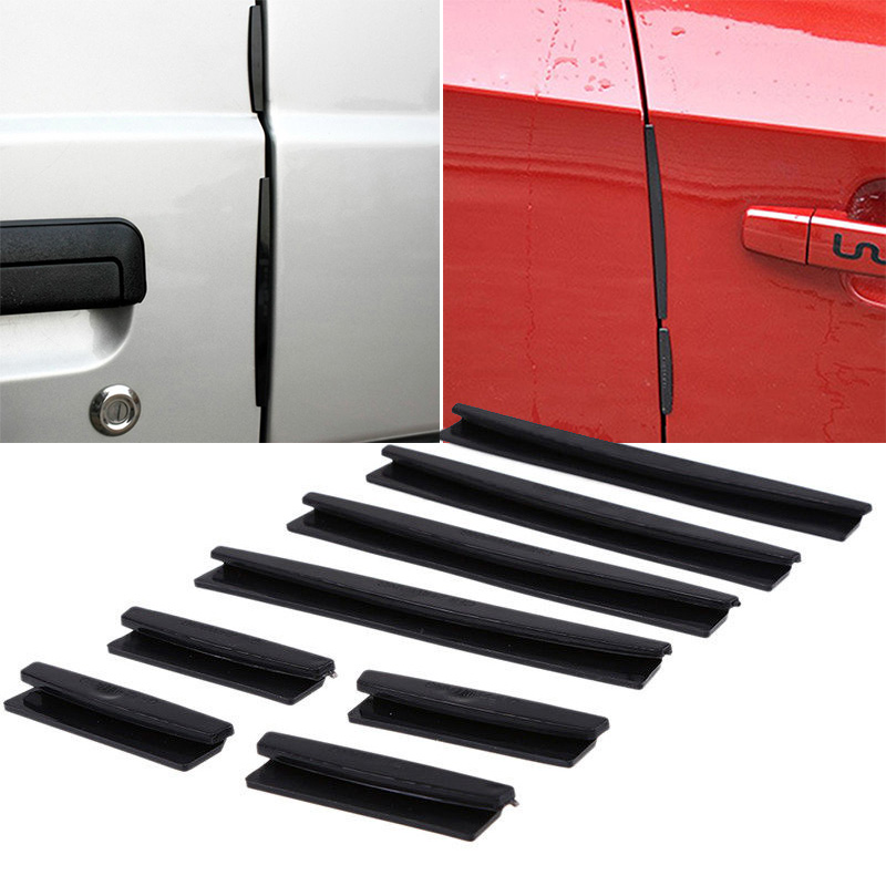 8 PCS Set Black Car Side Door Edge Protector Trim Guard Protection Strip Useful