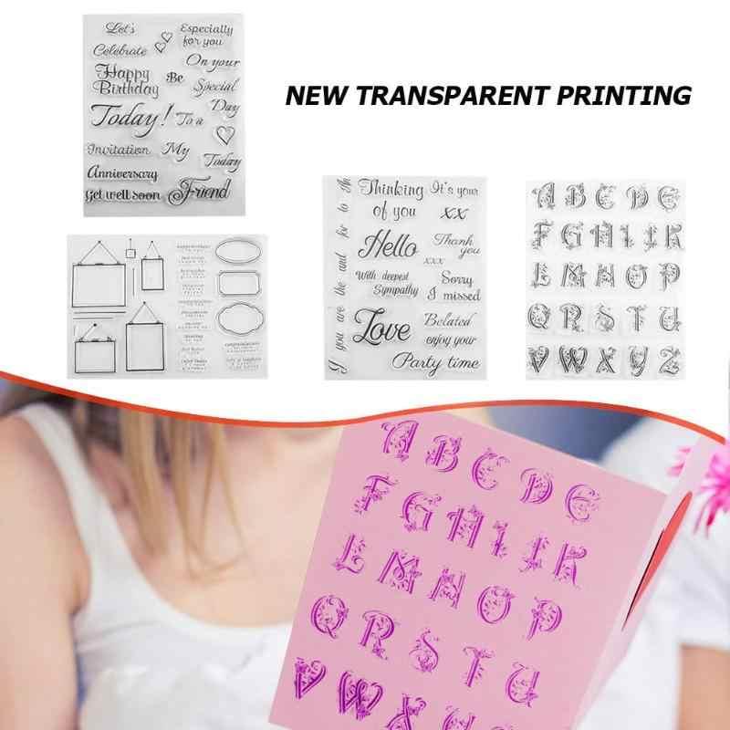 شفافة ختم لعب الاطفال إلكتروني هندسية ختم ورقة بطاقة صنع صور متعددة شفافة واضحة نمط الطوابع