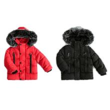 IMSHIE 2018 Winter Korean Style Boy Girl Big Fur Cotton