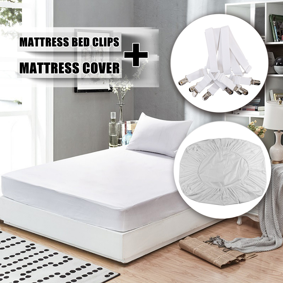 Mattress Covers & Grippers Mattress Protector Cover Waterproof Anti Dust Mite Breathable Fitted Bed Sheet Machine Washable 160x200+30cm/200x200+30cm Products Are Sold Without Limitations Home & Garden