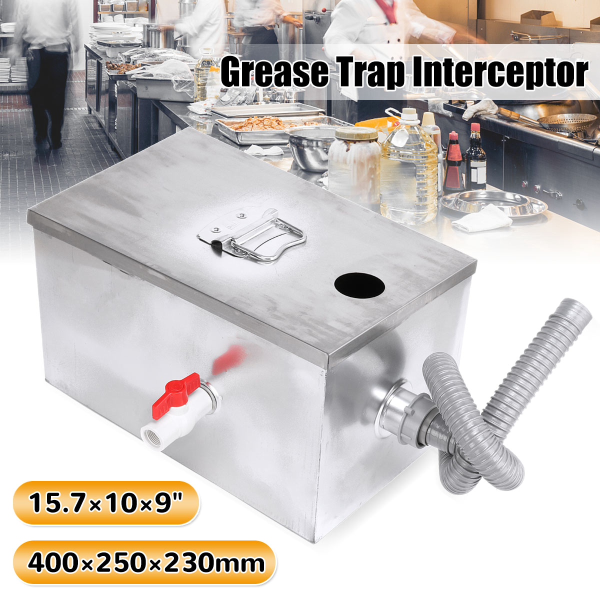 New Arrival Upgrade Grease Trap Stainless Steel Interceptor Trap Fat Thickened For Restaurant Kitchen WastewaterNew Arrival Upgrade Grease Trap Stainless Steel Interceptor Trap Fat Thickened For Restaurant Kitchen Wastewater