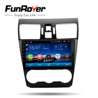 Funrover android 8.0 car dvd gps player For Subaru Forester XV WRX 2012 2018 2 din car radio navigation stereo multimedia player
