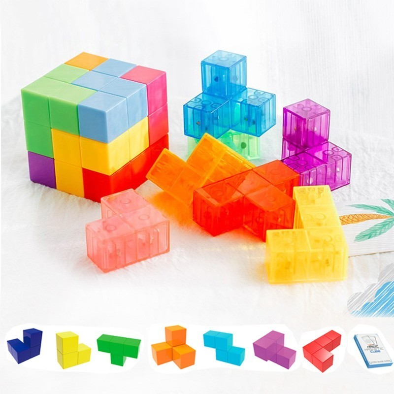 Cubo magnético brinquedos mágicos diy blocos criativos blocos de construção de plástico forte ímã quebra-cabeça designer brinquedos interativos para crianças
