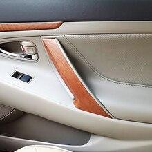 1 pc Car Interior Maniglia Della Porta Tirare Protezione Della Copertura Trim Per Toyota Camry 2006 2007 2008 2009 2010 2011
