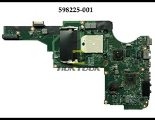 Großhandel Echtem 598225 001 FÜR HP Pavilion DV5 2000 AMD Laptop Motherboard Buchse S1 DDR3 100% Getestet