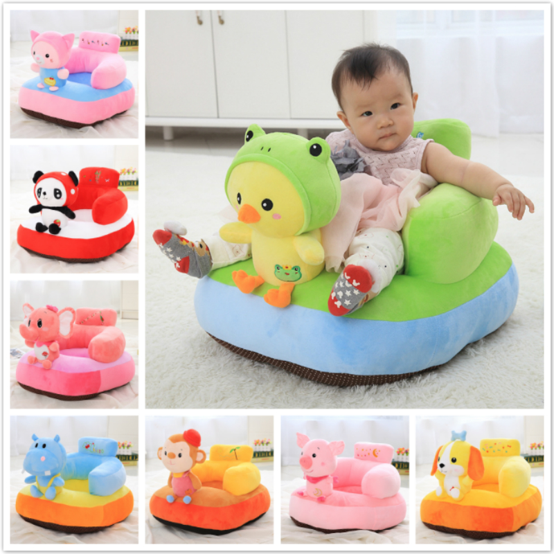 Infant Safety Seat Soft Stuffed Animal Baby Sofa Plush Baby Cushion Feeding Chair Learning To Sit