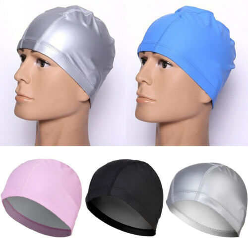 Unisex PU Swimming Hat  Protect Ears PU Solid Hat For Men Women Adults Pool Hat