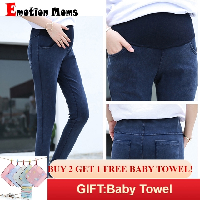 f585be8359341 Emotion Moms High Waist Maternity Clothes Maternity Pants Capris pregnancy  Jeans For Pregnant Women Pants Maternity Clothing