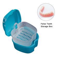 Для хранения протеза коробка Портативный протезов Box Контейнер зубной хранения ванна с фильтр для очистки протезов решение коробка