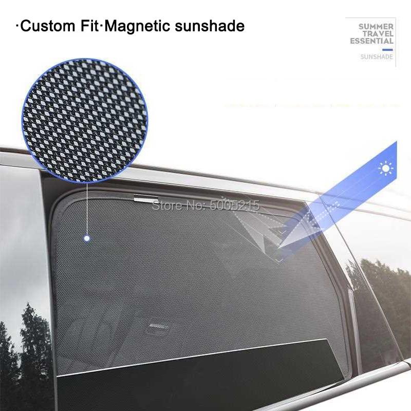 2 pcs 2 Pcs Magnetic Car Front Side Window Sunshade For Subaru Superb Spaceback Yeti Kodiaq UV Sun Shade For Car Window Blind (2)