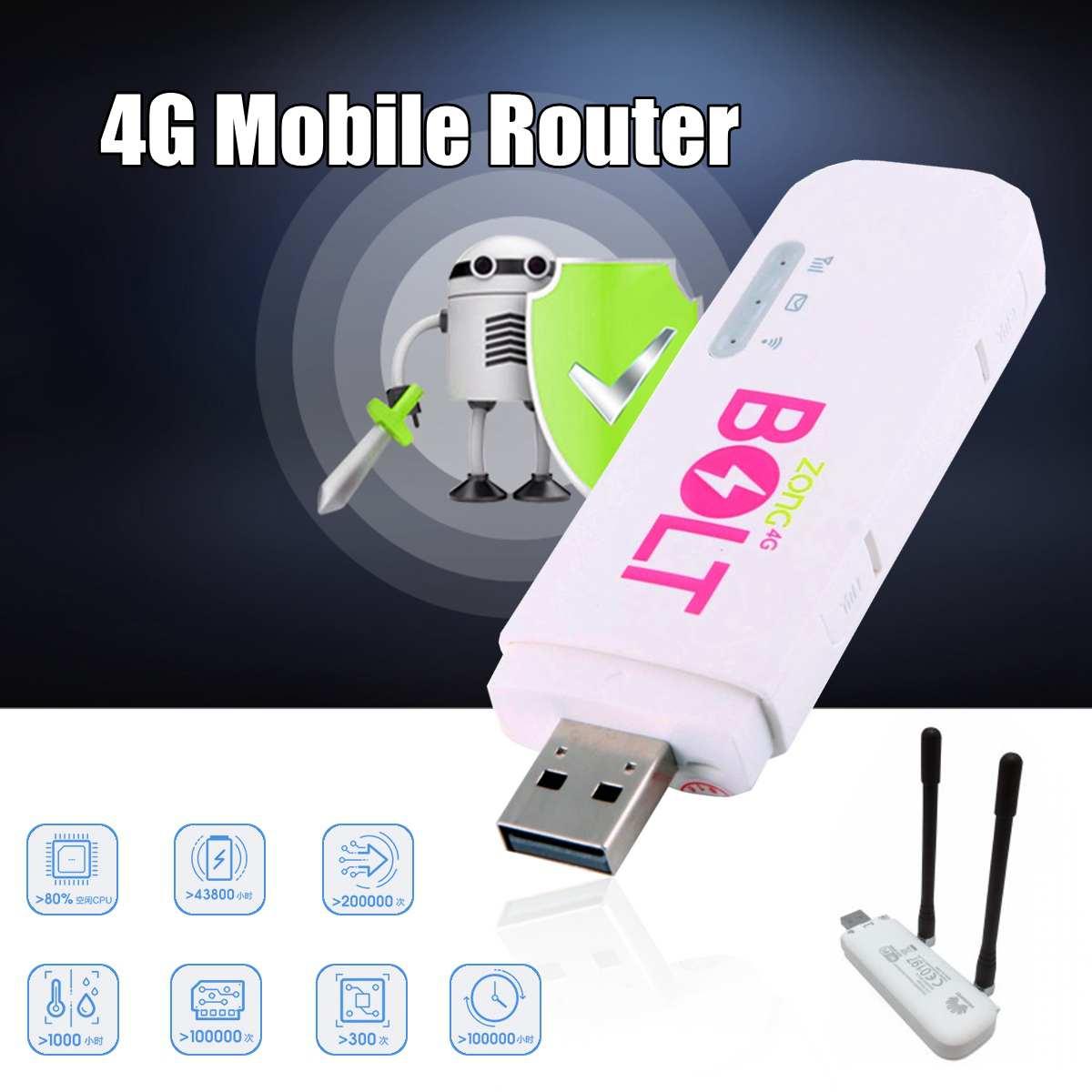 Routeur sans fil d'usb WIFI de Hotspot de voiture Mobile portative de 4G LTE avec l'antenne pour le modem sans fil de routeur déloqué par tablette de Smartphone