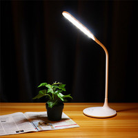 CLAITE 6W 28 LED Desk Lamp Hand Sensor Control Dimmable Table Lamp USB Rechargeable 3 Modes Eye caring Reading Night Light