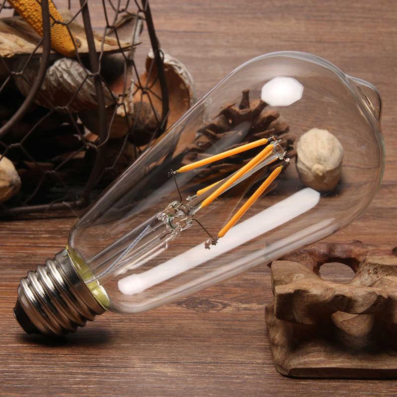 Ampoule rétro Vintage T185 T300 Ampoule Bombilla LED E27 E14 LED Ampoule à Filament Edison en verre véritable watt 2W 4W 6W 220V