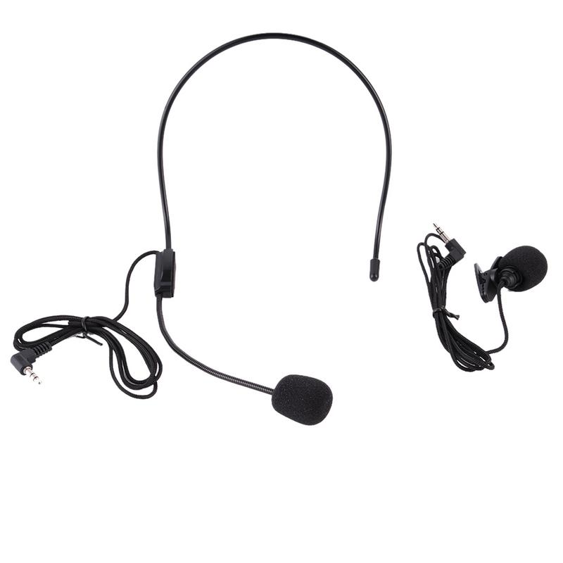 Ear Hanging Microphone Multi-function Loudspeaker Microphone Wired Headset Ultra-light Design Adjust Length And Angle