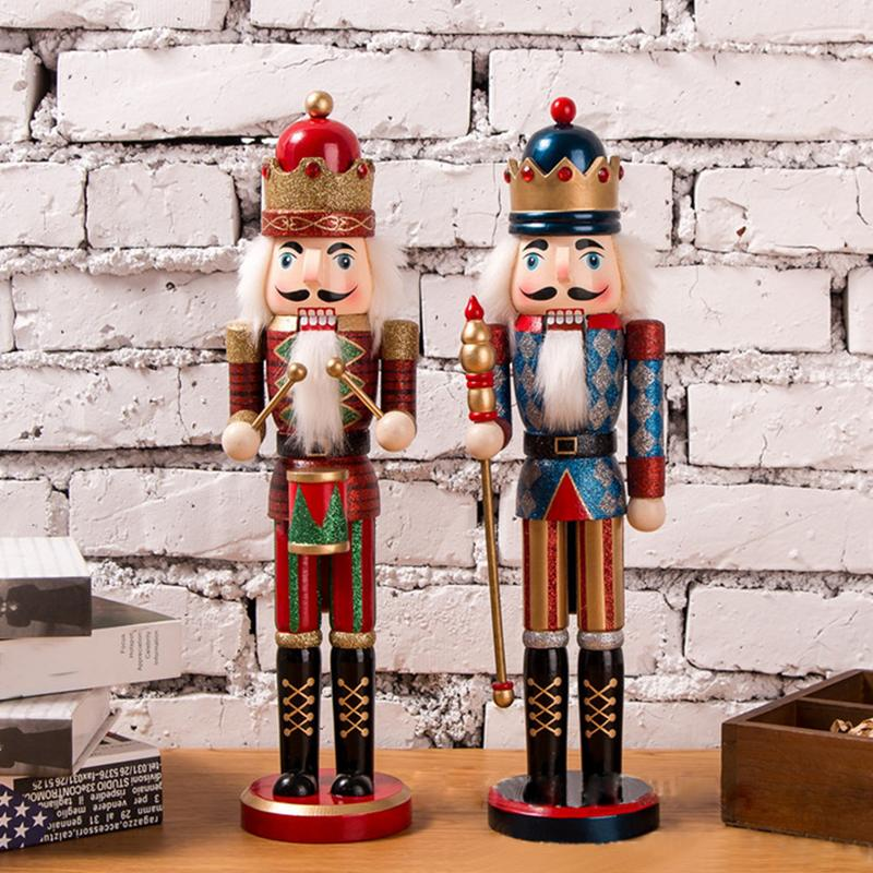 Puppet 38CM Glitter Powder Shimmer Bright Nutcracker Christmas Gift Christmas Decorations For Home|Pendant & Drop Ornaments| |  - title=