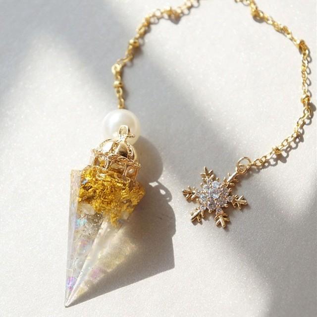 White Meteorite Orgonite Pendulum