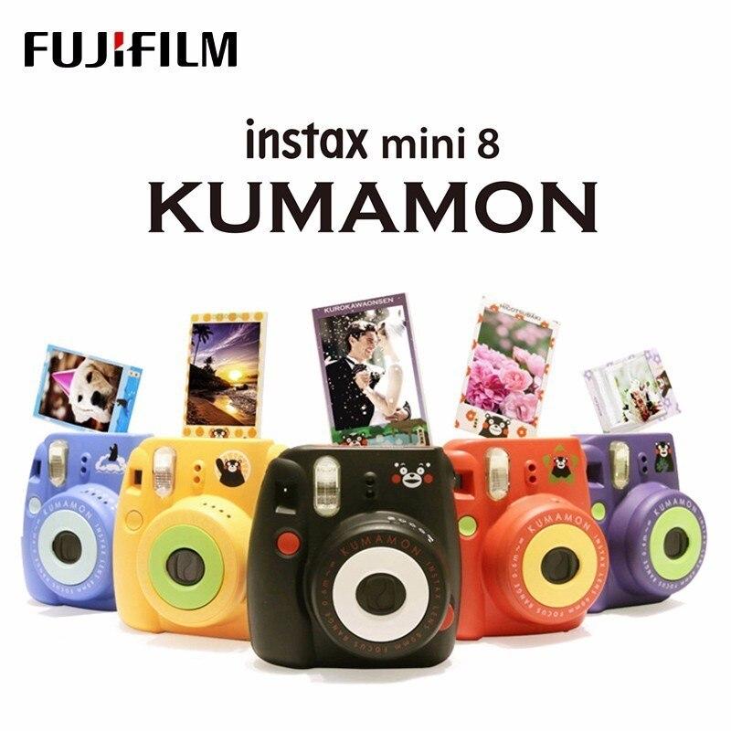 Authentique Kumamon Fuji Fujifilm Instax Mini 8 caméra impression instantanée Film régulier prise de vue Photos