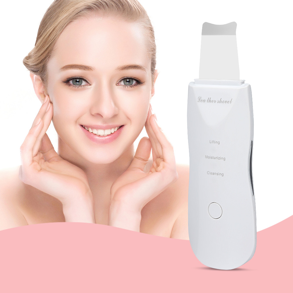 Electric Rechargeable Ultrasonic Face Skin Scrubber Deep Face Cleaning Machine Peeling Vibration Blackhead Removal Pore Cleaner-in Powered Facial Cleansing Devices from Home Appliances