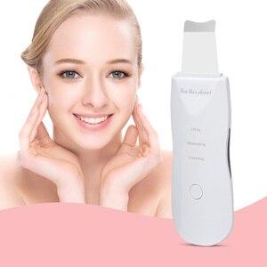 Image 1 - Elektrische Oplaadbare Ultrasone Gezicht Huid Scrubber Diepe Gezicht Reinigingsmachine Peeling Trillingen Mee eter Verwijderen Pore Cleaner
