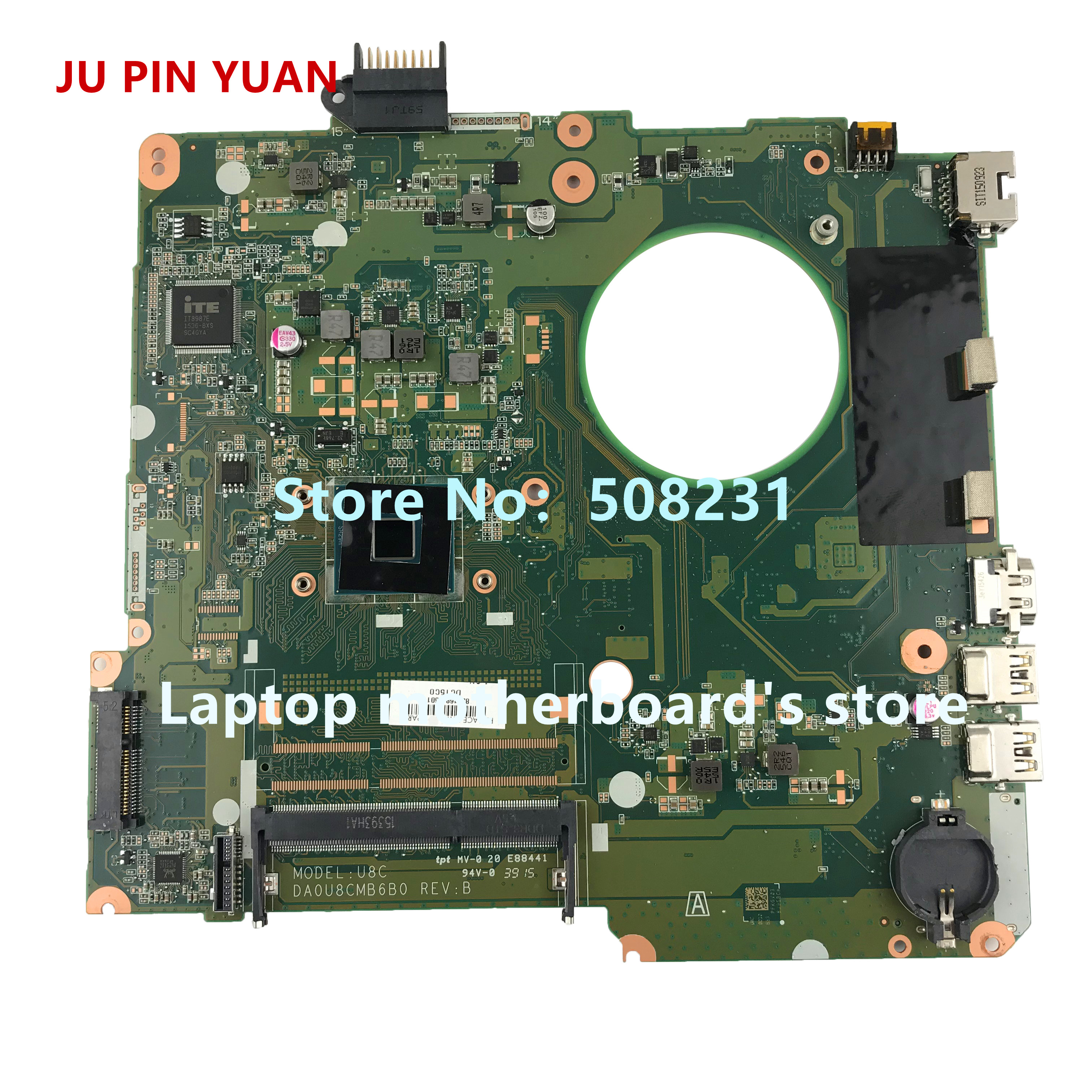 JU PIN YUAN 828168-601 828168-501 DA0U8CMB6B0 U8C for HP Pavilion 15-F 15-F223NR  Laptop motherboard with CelN3050 fully TestedJU PIN YUAN 828168-601 828168-501 DA0U8CMB6B0 U8C for HP Pavilion 15-F 15-F223NR  Laptop motherboard with CelN3050 fully Tested