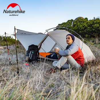 Naturehike 2019 New Arrive Vik Series Ultralight Waterproof White Outdoor Camping Tent For 1 Person Tent 4