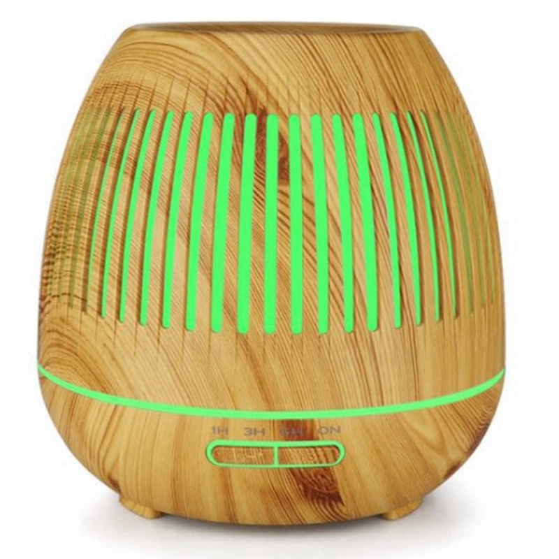 NEW-400Ml Aromatherapy Essential Oil Diffuser Wood Grain Hallow 7 Color Light Aroma Lamp Humidifier Home (Us Plug)NEW-400Ml Aromatherapy Essential Oil Diffuser Wood Grain Hallow 7 Color Light Aroma Lamp Humidifier Home (Us Plug)