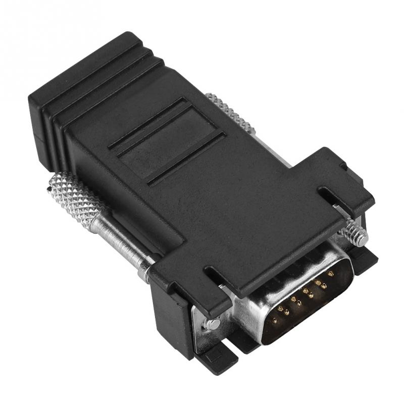VGA Male to RJ45 Adapter VGA Signal Transit Monitor Extender Adapter RJ Network Cable adapter for KTV bars