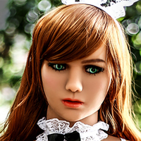 tpe Oral Sex Doll Head Fits for 140cm to 176cm Life Size Love Doll with Wig and Eyes M16 Screw Thread