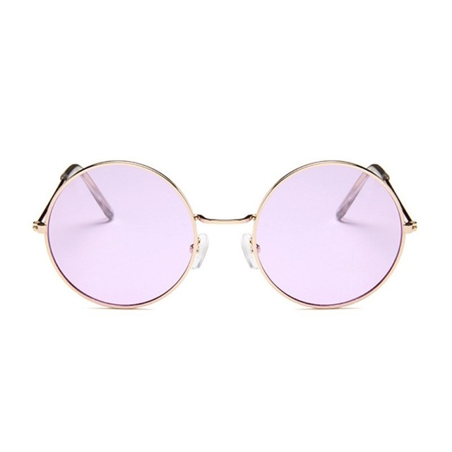 Retro Oval Sunglasses Women Luxury Brand Designer Vintage Small Unisex Metal Frame Color Lenses Sun Glasses Female Oculos UV400