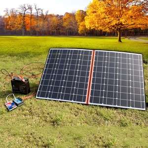 Image 5 - 120W (2 PCS * 60W) watt Faltbare Schwarz Solar Panel Ladegerät China Mono Solarzelle Pv modul 10A Controller Solar Decke Lade