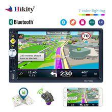 Hikity 2 Дин Радио 7 «HD автомобильное радио с GPS навигации fm 2din аудиомагнитолы автомобильные Поддержка android Зеркало Ссылка RDS DVR камера стерео плеер