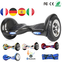 цена Hoverboard 10 Scooter Electrico Skateboard Electrique Hoverboard 10 Pouce Overboord Batterij Scooter Skate Board Hub Over Boord онлайн в 2017 году