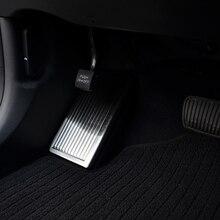 Нержавеющая сталь левая ножная педаль отделка Нескользящая накладка защитные аксессуары для hyundai Tucson автомобильный Стайлинг