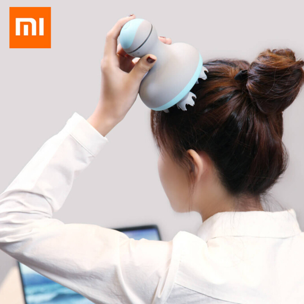 Original Xiaomi Mijia MINI Head Massager 3D Stereo Massage Wet And Dry 6 Kinds Of Massage Manual Massage Instrument Smart Home