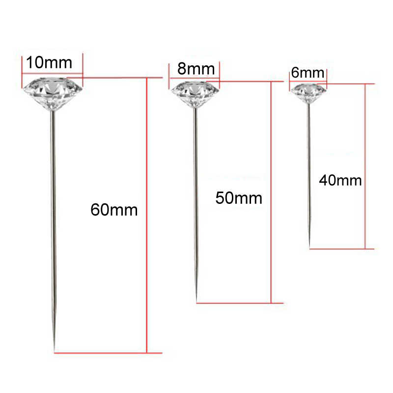 Korsase Pin Pakaian Jahit Pernikahan Buket Pins Jahitan Jarum untuk Bahan Pin Berlian Imitasi Kepala Jahit Pin 1 Box