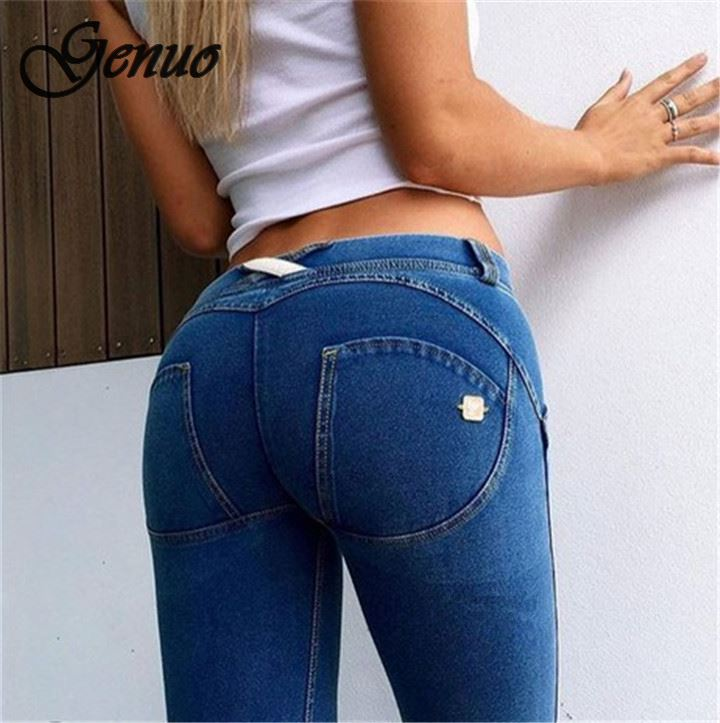 Women's Clothing Sexy Women Casual Jeans Skinny Lift Butt Leggings Bodycon Low Waist Denim Pants Push Up Hip Pencil Lift Jeans Women High Street Big Clearance Sale