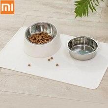 Xiaomi Pet Dog Puppy Kat Waterdichte Voeden Mat P Een D Siliconen Schotel Kom Voedsel Vegen Schoon Drinken feed Plaats Mat Van 44