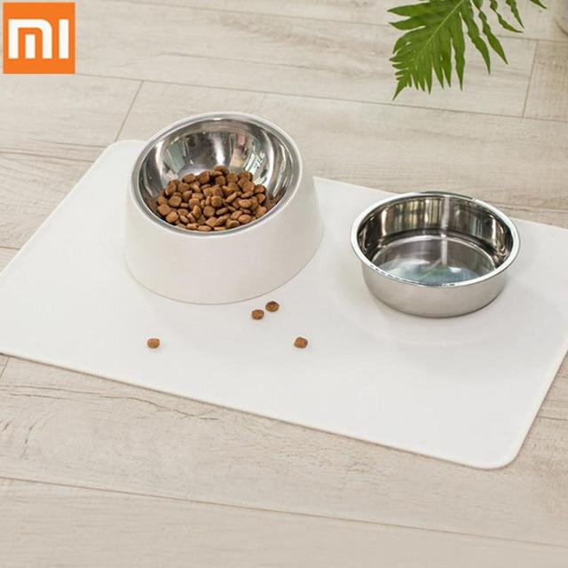 Xiaomi Pet köpek yavru kedi su geçirmez besleme Mat i p a d silikon bulaşık kase gıda silin temiz içme yem yer mat 44