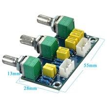 Ламповые усилители аудио усилитель предусилитель тональная плата Hi-Fi бас ВЧ объем Управление доска 3-канальный блок питания с сабвуфером 2,1 усилитель