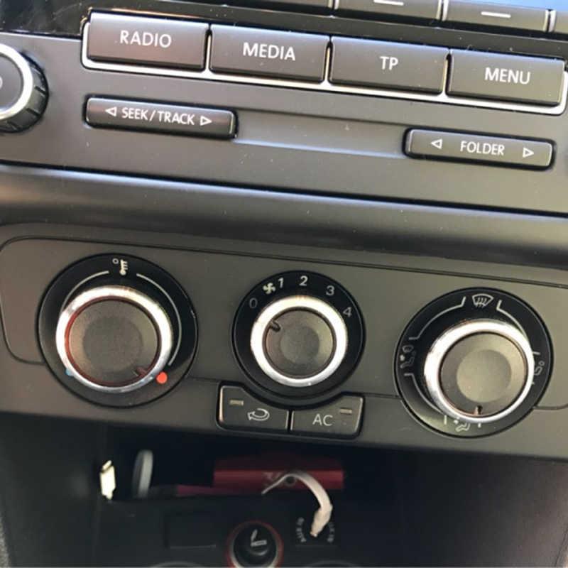 اكسسوارات السيارات التيار AC المقبض تكييف الهواء التحكم في الحرارة مقبض مفتاح التشغيل ل Volkswagen فولت واط بولو 2004-2013 سبائك الألومنيوم 3 قطعة
