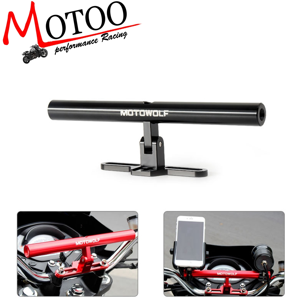 Universal Motorcycle/Scooter/Sport-bike/Cycle Reinforced Crossbar Motor Phone/GPS/Spotlight/Headlights Mounting Bracket