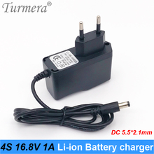 16.8v 14.4v battery charger for lithium battery charger 16.8v 1a with dc 5.5*2.1 for screwdriver battery eu plug Turmera