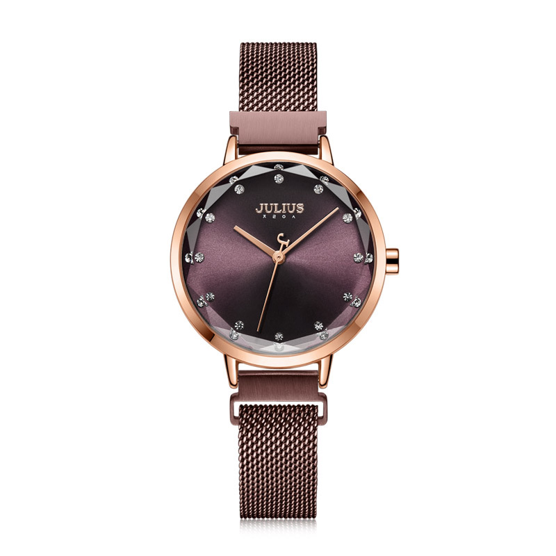 Magnetic Buckle Julius Lady Women's Watch MIYOTA Fashion Hours Stainless Steel Bracelet Business Clock Girl's Birthday Gift Box