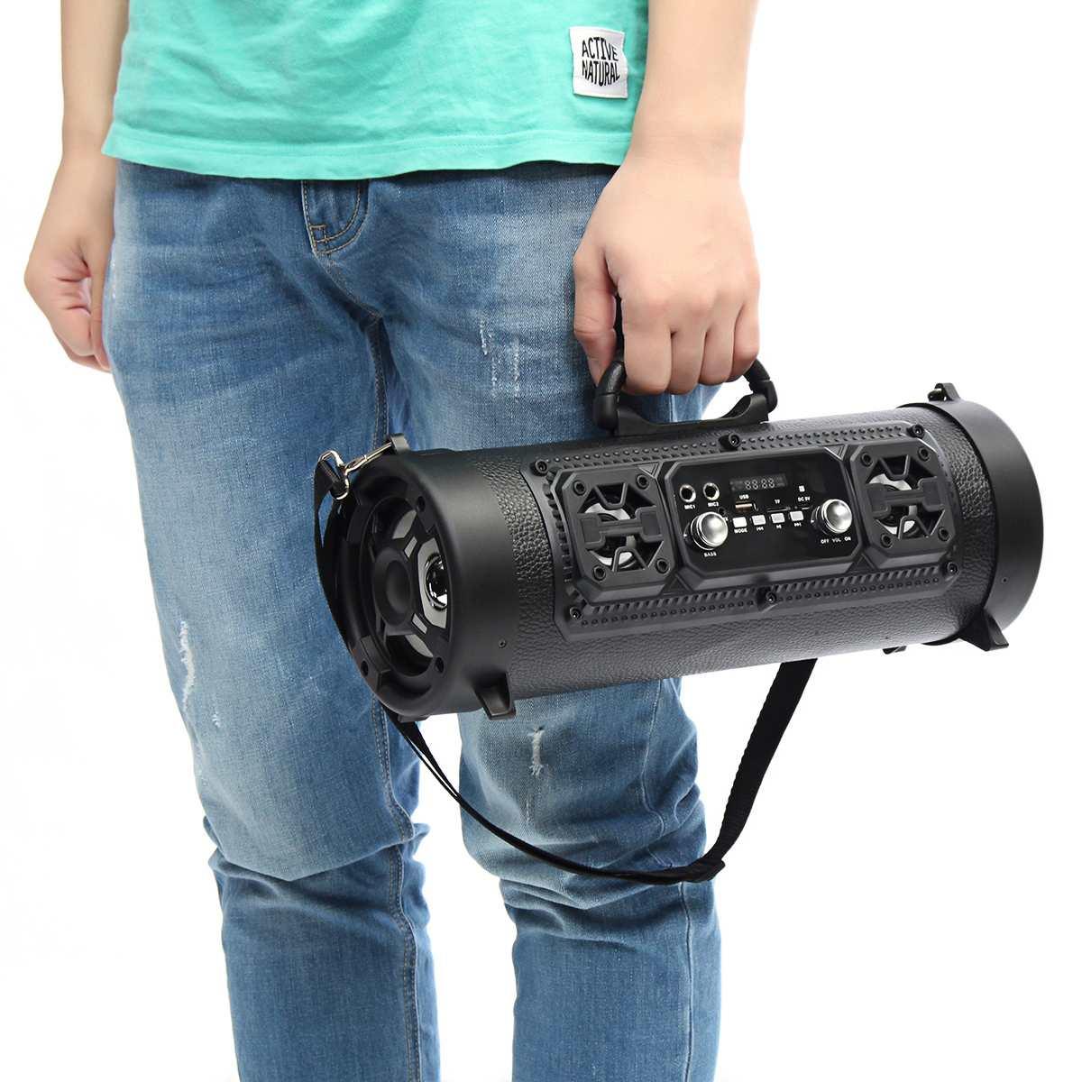 HIFI bluetooth sans fil Haut-Parleur subwoofer externe haut-parleur usb AUX radio fm tf enceinte stéréo Basse MP3 Lecteur Musique Barre De Son