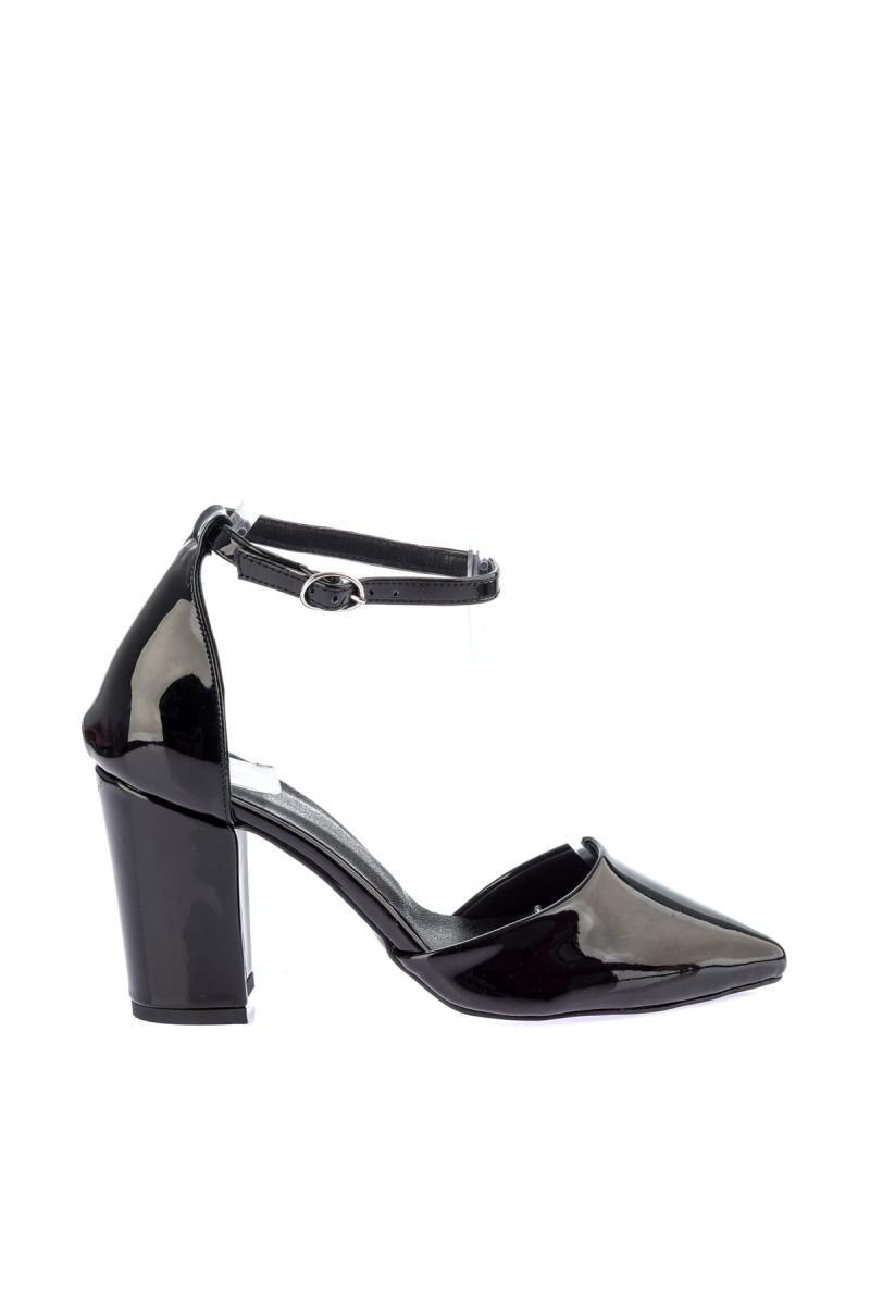 Mujeres Soho Cuero De Tacón Zapatos Las Alto Charol 12509 Negro trXTwr