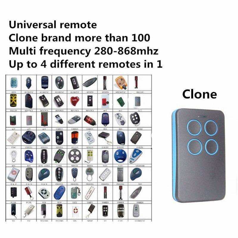 Auto Scan Multi Freqüência 280 MHz-868 MHz Duplicador de Controle Remoto Da Garagem Clonagem Universal Ajustável 433 868 315 418 MHz